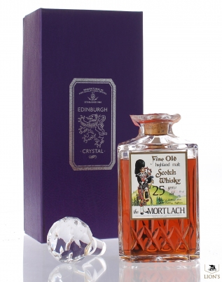 Mortlach 25 years old Edinburgh crystal Decanter