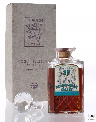 MiltonDuff 25 years old Pluscarden Valley crystal decanter