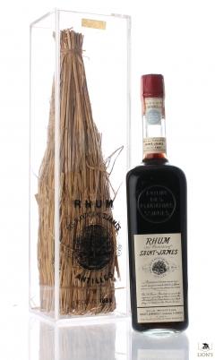 Rhum des plantations S. James Antilles recolte 1885