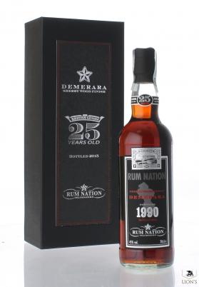 Rum Nation demerara 1990 25 years old