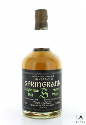 Springbank 1973 18 Years Old 57.5%  Rum Butt Cadenhead
