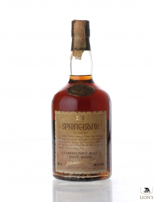 Springbank 21 Years Old Dumpy