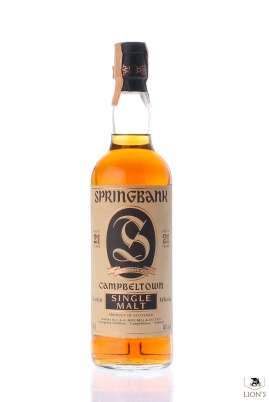 Springbank 21 years old Black Cap