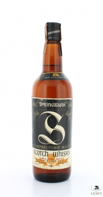Springbank 5 Years Old Big S Brown Glass