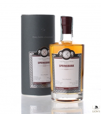 SPRINGBANK MALTS OF SCOTLAND 1998 49.2 % SHERRY