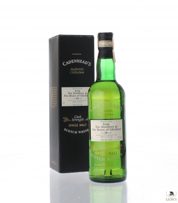 The Braes of Glenlivet 1987 10 years old B1997  CADENHEAD'S