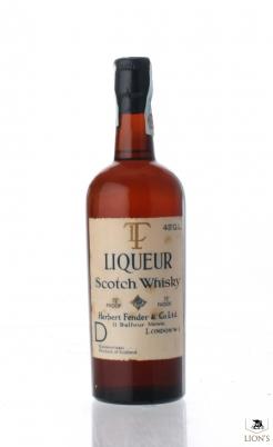 TL Liqueur Scotch Whisky 75 Proof Herbert Fender