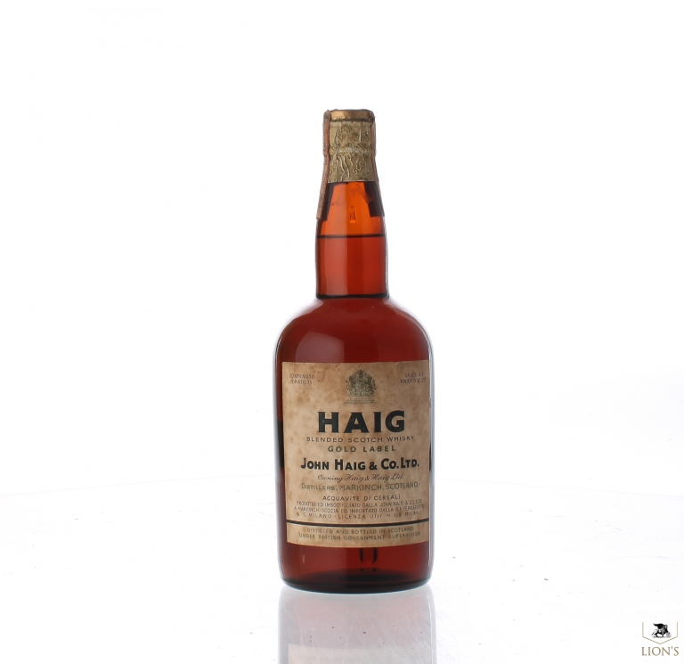It's just a graphic of Unusual Haig Gold Label Original Blended Scotch Whisky